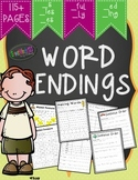 Word Endings (_s _ed _ing _ies _es _ful & _ly) Word Work