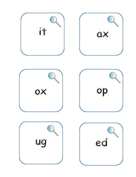 Common Core: Word Family Letter Pattern Search