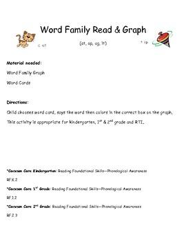 Common Core: Word Family Read & Graph