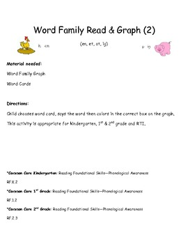 Common Core: Word Family Read & Graph (2)