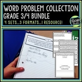 Word Problem Bundled Set | Grade 3 Word Problems | Grade 4 Word Problems