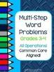 Word Problem Bundled Set | Grade 3 Word Problems | Grade 4 Word Problems