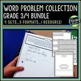 Word Problems Bundled Set   Problem Solving for Grades 3 and 4