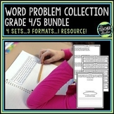 Word Problem Bundled Set | Grade 4 Word Problems | Grade 5 Word Problems
