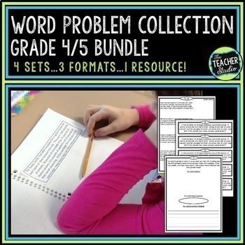 Word Problem Bundled Set | Grade 4 Word Problems | Grade 5 Word Problems