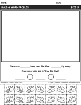 Word Problems for First Grade (May Math Mats)