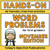 Fall Word Problems (November, Hands On)