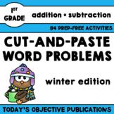 Word Problems for First Grade (January Math Mats)