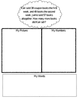 Common Core Word Problem Solving Sheet