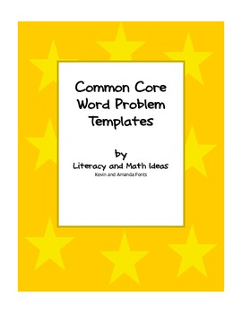 Common Core Word Problem Template Freebie!