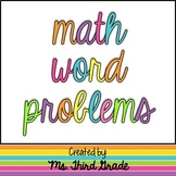 Common Core Word Problems- 2nd to 4th Grade
