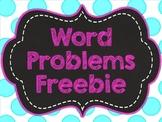 Common Core Word Problems FREEBIE