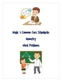 Common Core Word Problems Grade 7 - Geometry