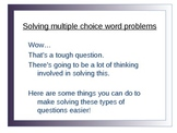 Common Core Word Problems Test Taking Skills