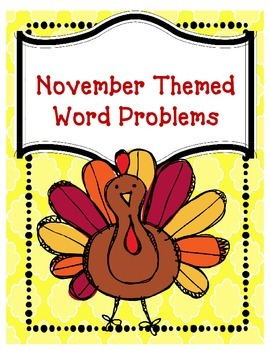 November Themed Word Problems