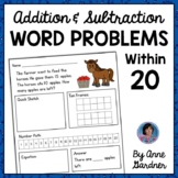 First and Second Grade Addition & Subtraction Word Problems within 20 {RTI}