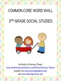Common Core Word Wall: 3rd Grade Social Studies