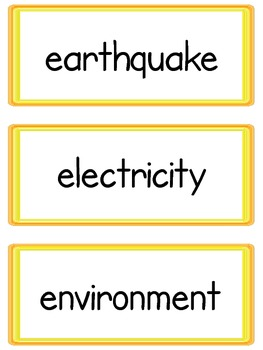 Common Core Word Wall: 4th Grade Science