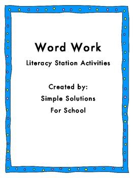 Common Core Word Work Activities