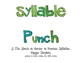 Common Core Word Work Syllable Punch