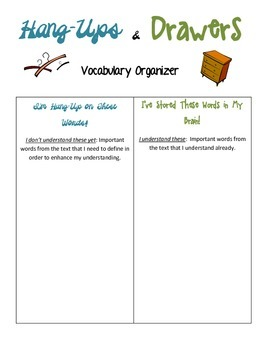 Common Core Worksheet for Vocabulary Gr 3-8