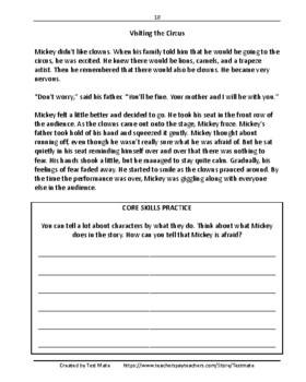 Common Core Worksheets: Reading Comprehension Daily Test Prep Grade 4