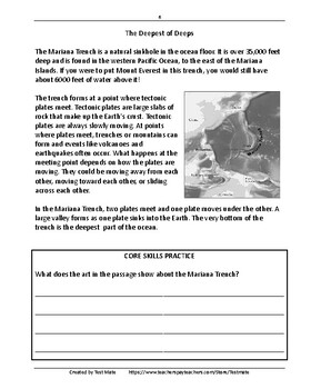 Common Core Worksheets: Reading Comprehension, Daily Test ...