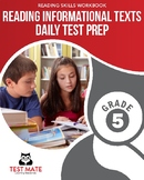 Common Core Worksheets: Reading Informational Texts, Daily Test Prep, Grade 5