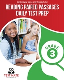 Common Core Worksheets: Reading Paired Passages, Daily Test Prep, Grade 3
