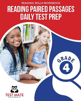 Common Core Worksheets: Reading Paired Passages, Daily Test Prep, Grade 4