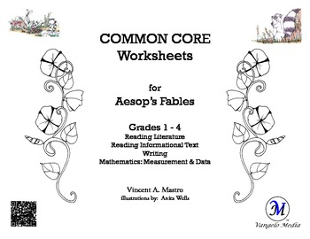 Common Core Worksheets for Aesop's Fables - Grades 1-4