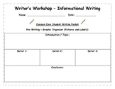 Common Core Writer's Workshop Informational Writing Process Packet