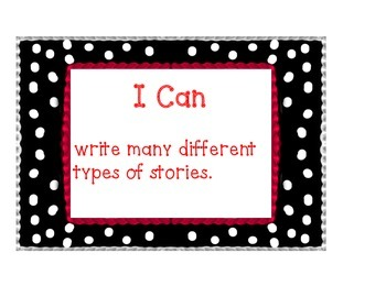 "Common Core Writing ""I Can Posters"" (Pok-a-dot)"