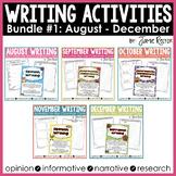Common Core Writing Activities Bundle #1 {August - December}