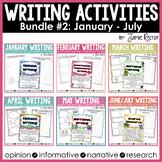 Common Core Writing Activities Bundle #2 {January - July}