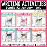 Common Core Writing Activities Bundle #2 January - July
