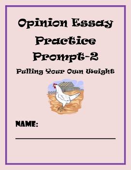 Common Core Writing Assessment-Opinion Writing Prompt #2 (
