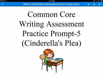 Common Core Writing Assessment Practice Prompt 5 (Cinderel