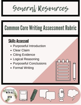 Common Core Writing Assessment Rubric
