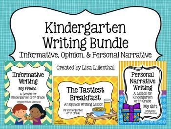 Common Core Writing Bundle #3 ~ Kindergarten