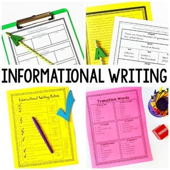 Writing Workshop Bundle - Yearlong Writing - Informational, Opinion, Narrative