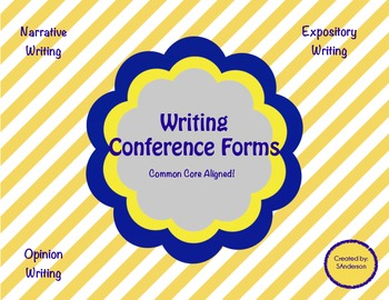 Common Core Writing Conference Forms Bundle