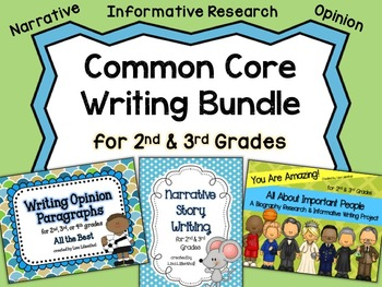 Common Core Writing Bundle ~ Grades 2 & 3