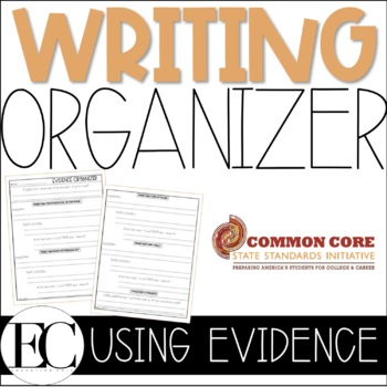 Common Core Writing Graphic Organizer