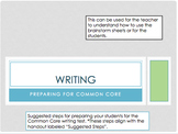 Common Core Writing Graphic Organizers- Opinion, Main Idea, and Compare/Contrast