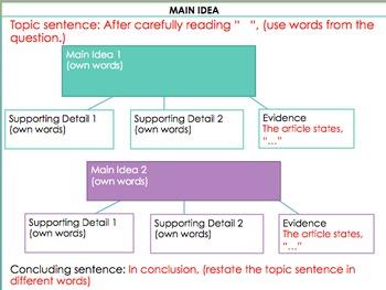 Common Core Writing Graphic Organizers- Opinion, Main Idea, and Compare/Contrast