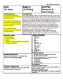 W.1.5 W.1.7 Common Core Writing Informational/Technology Unit Plan