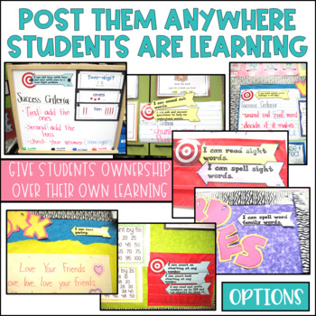 Common Core Writing Learning Targets Kindergarten