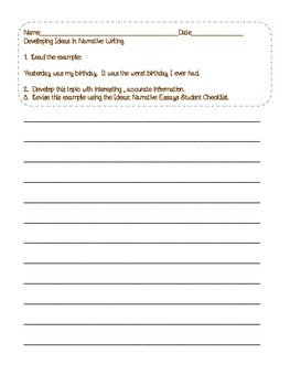 Common Core Writing: Developing Ideas