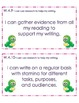 4th Grade Common Core Student Friendly Writing Objectives